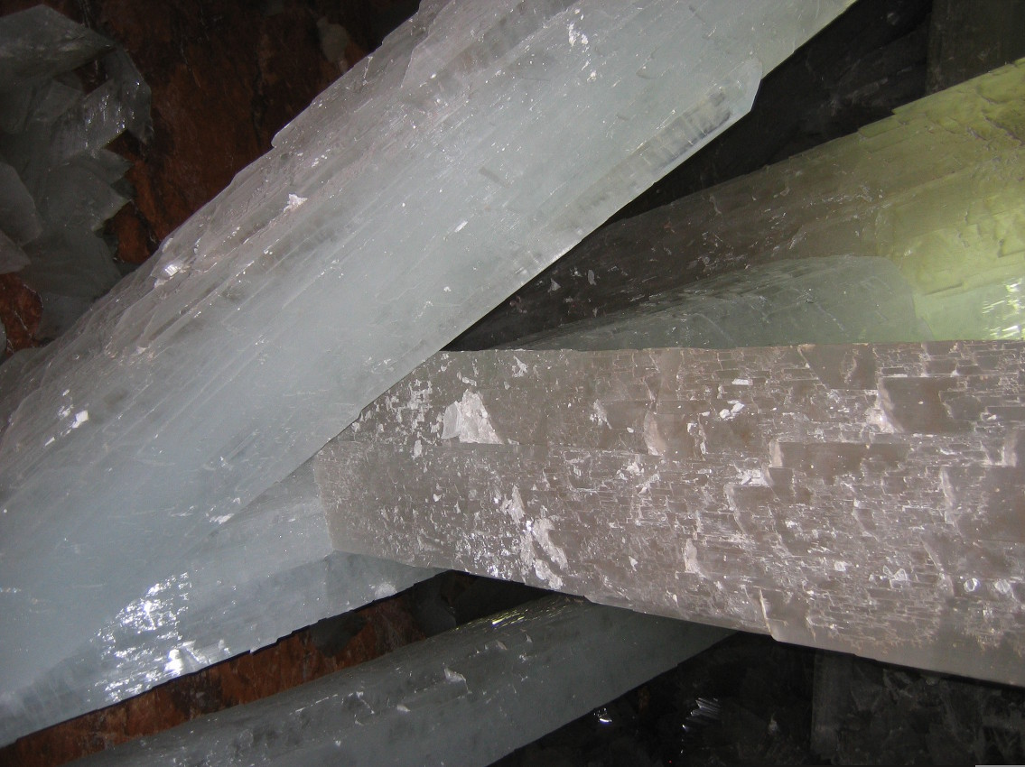 Giant crystals in the Naica mine.